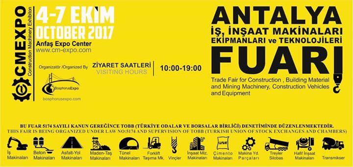 CM EXPO, ANTALYA İŞ ve İNŞAAT MAKİNALARI FUARI